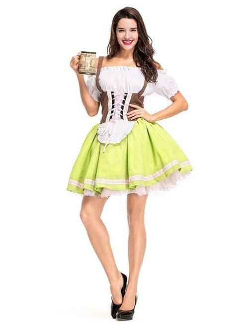 Women/'s German Oktoberfest Dirndl Beer Maid Fancy Dress Halloween Costume